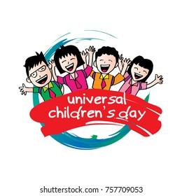 Poster design for Universal children's day