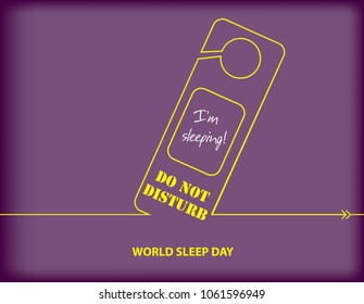 Poster Do not disturb - I'm sleeping! - Calendar holiday on March 16