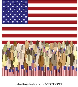 Poster Election 2016, Power of People for Presidential election 2016 in USA.