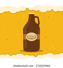 Poster of a flat beer growler