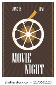 Movie night poster stock vectors images vector art shutterstock poster flyer or invitation template for movie night motion picture premiere or cinema festival maxwellsz