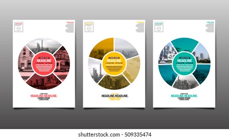 Poster , Flyer Template, Circle Abstract Background, vector Illustration