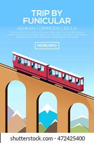 Poster with funicular