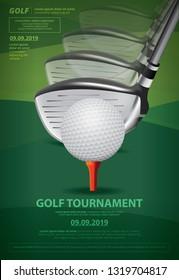 Poster Golf Championship Vector Illustration