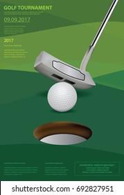 Poster Golf Vector Illustration
