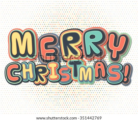 Poster greetings merry christmas happy new stock vector royalty poster with greetings merry christmas and happy new year creative lettering greeting card m4hsunfo