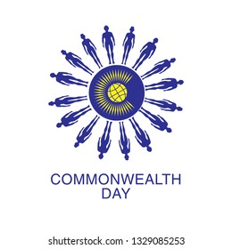 Poster Holiday of Unity and Security - Commonwealth Day Calendar holiday on March.