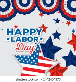 poster of labor day decoration and celebration