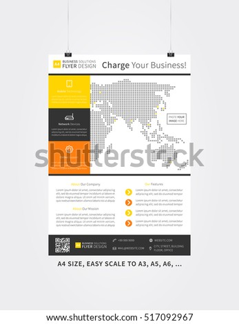 poster layout vector illustration flyer template advertising design leaflet layout creative concept a4