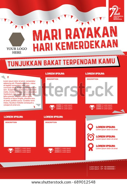 Poster Lomba 17 Agustus 2017 Translation Stock Vector Royalty