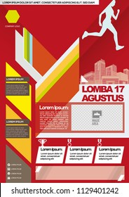 Poster - Lomba 17 Agustus, Translate: 17th August competition