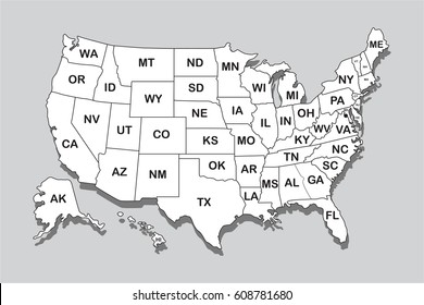United States Map Names Images, Stock Photos & Vectors | Shutterstock