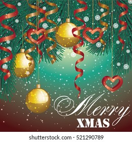 Poster Merry Christmas. Vector illustration