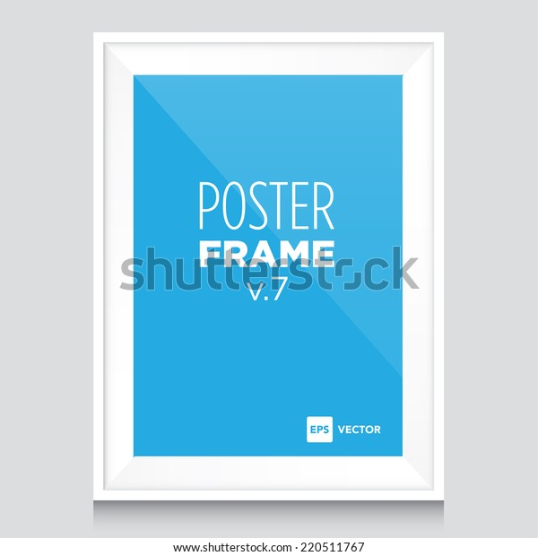 Poster Mockup Template White Frame Stock Vector Royalty Free