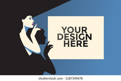 Poster Mockup vector design. Easily place your design on an entitled layer.