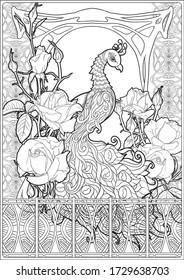 Art Nouveau Coloring Page Images Stock Photos Vectors Shutterstock