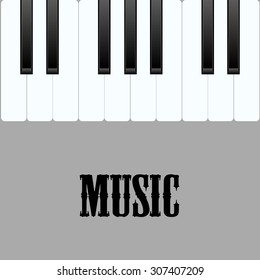poster with piano keys vector illustration
