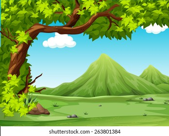 Poster of a scenery view illustration