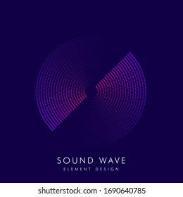 Poster of the sound wave. Vector illustration music on dark background. Illustration suitable for design - Vector Illustration