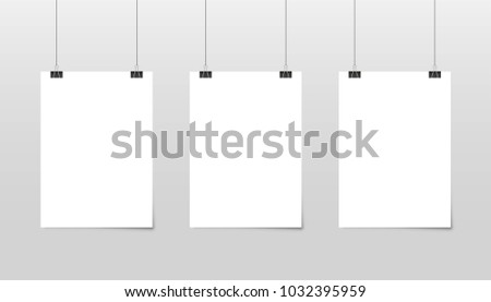 poster template paper sheet hanging posters stock vector royalty