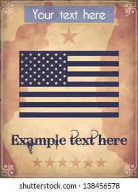 Poster with U.S. flag