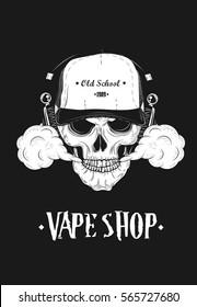 Poster For Vape Shop. Vector Illustration