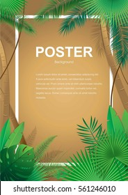 Poster, vector, nature and foliage.