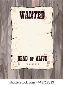 poster wanted dead or alive vector illustration in shades of grey good for your unique design