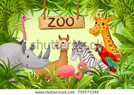 poster wild animals savanna desert cover stock vector royalty free