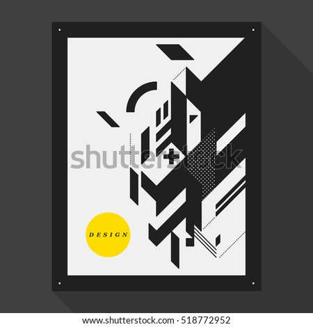 postercover design template abstract geometric elements stock vector