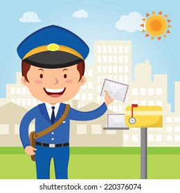 Postman Cartoon Images, Stock Photos & Vectors | Shutterstock