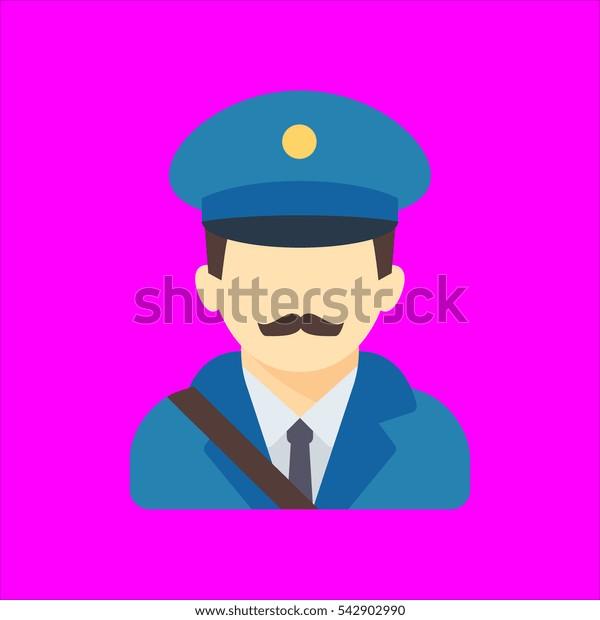 postman icon flat disign