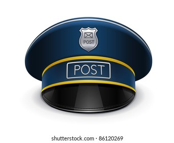 postman peaked cap vector illustration isolated on white background