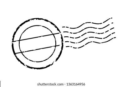 Postmark mark, icon, illustration, vector data