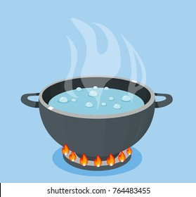 pot is boiling water