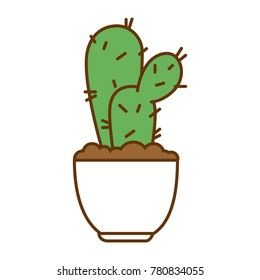 pot with desert plant