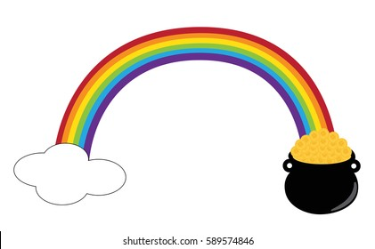 Pot Gold Rainbow Images Stock Photos Vectors Shutterstock