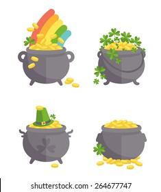 Pot with gold set.