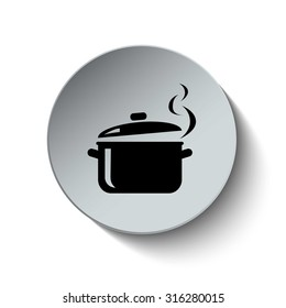 Pot icon. Cooking icon. Vector Illustration. EPS10