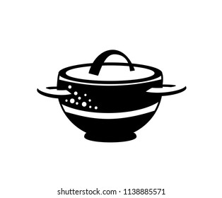 Pot icon. Saucepan for cook hot dishes icon