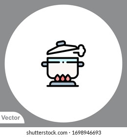 Pot icon sign vector,Symbol, logo illustration for web and mobile