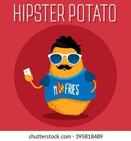 Potato character vector design.