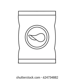 Potato chips icon. Outline illustration of potato chips vector icon for web