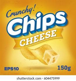 Potato Chips. Package design. Logo design. Cheese taste