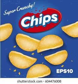 Potato Chips. Package design. Logo design