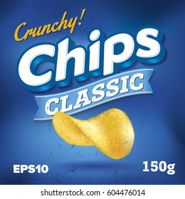 Potato Chips. Package design. Logo design Classic