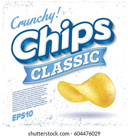 Potato Chips. Package design. Logo design. Classic