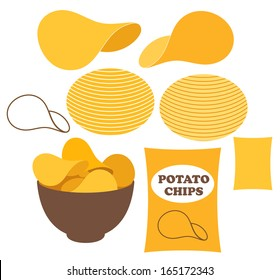 Potato chips. Vector illustration