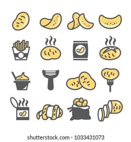 Potato icon set