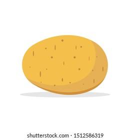 Potato isolated on white background. Vector illustration. Eps 10.